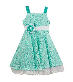 Rare Editions® Girls' 4-6X Aqua Lace Dress