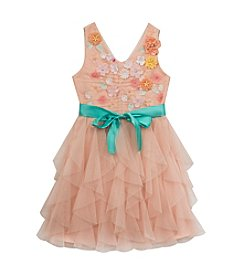 Rare Editions® Girls' 7-16 3D Flowers Cascade Dress