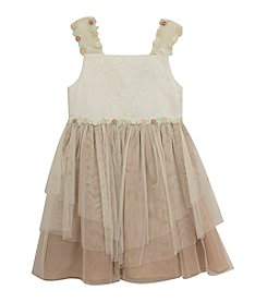 Rare Editions® Girls' 7-16 Lace Hem Dress
