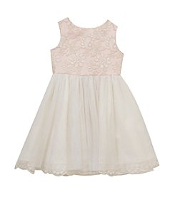 Rare Editions® Girls' 7-16 Embroidered Bodice Dress