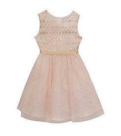 Rare Editions® Girls' 7-16 Brocade Bodice Dress