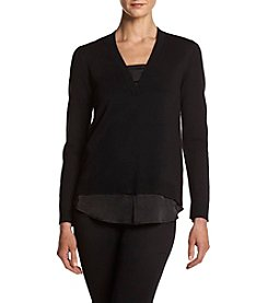 Jones New York® V-Neck Layered Look Sweater