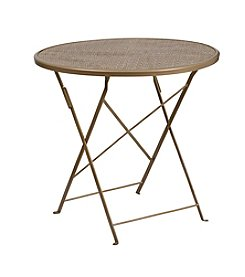 Flash Furniture Round Indoor-Outdoor Steel Folding Patio Table