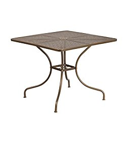 Flash Furniture Square Indoor-Outdoor Steel Patio Table