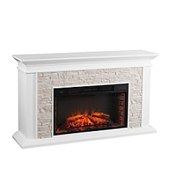 Southern Enterprises Canyon Heights Faux Stacked Stone Electric Fireplace