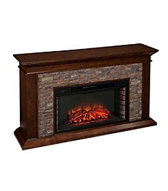 Southern Enterprises Canyon Heights Simulated Stone Electric Fireplace