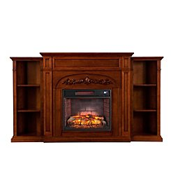 Southern Enterprises Chantilly Bookcase Infrared Electric Fireplace