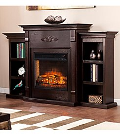 Southern Enterprises Tennyson Infrared Electric Fireplace with Bookcases