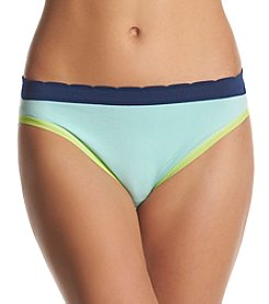 Relativity® Plus Size Seamless Colorblock High Cut Panties
