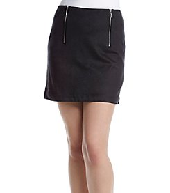Kensie® Faux Suede Mini Skirt