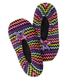 Fuzzy Babba® Rainbow Chevron Slippers