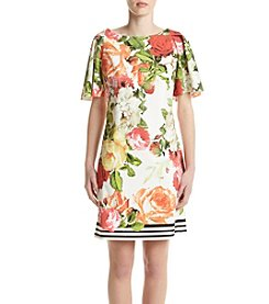 Gabby Skye® Floral Draped Sleeve Dress