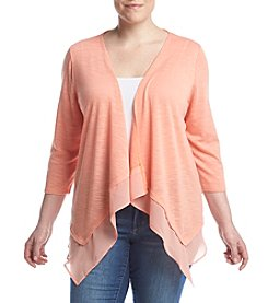 Studio Works® Plus Size Chiffon Hem Cardigan