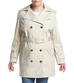 Calvin Klein Plus Size Notch Collar Trench Coat