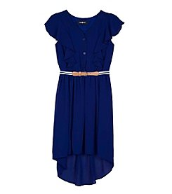 Amy Byer Girls' High-Low Dress With Belt