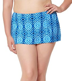 Bleu|Rod Beattie® Plus Size Skirted Hipster Bottoms