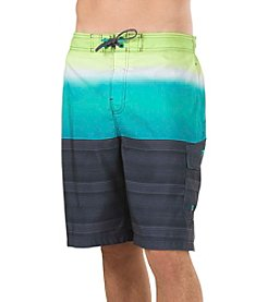 Speedo® Men's Surging Stripe E-Board Swim Trunks