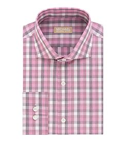 MICHAEL Michael Kors® Men's Long Sleeve Regular Fit Plaid Dress Shirt