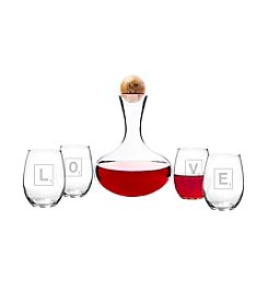 Cathy's Concepts Love Letter Wine Decanter & Glass Set