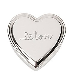 Cathy's Concepts Love Silver Heart Keepsake Box