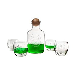 Cathy's Concepts St. Patrick's Day Glass Decanter with Wood Stopper Set