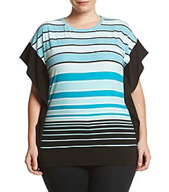 MICHAEL Michael Kors® Plus Size Stripe Border Knit Top