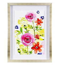 LivingQuarters English Garden Rose Rhapsody Floral Print