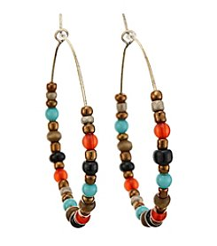 Ruff Hewn Beaded Hoop Earrings