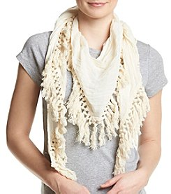 Steve Madden Oversized Cotton Tassle Day Wrap