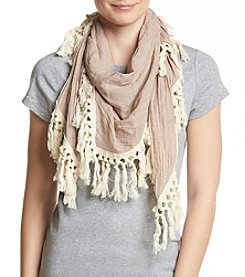 Steve Madden® Oversized Cotton Tassle Day Wrap