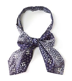 Collection 18 Patched Ditzy Geo Bow Tie Scarf