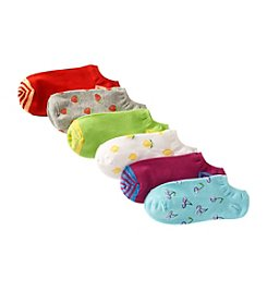 HUE® 6-Pack Cotton Liner Socks