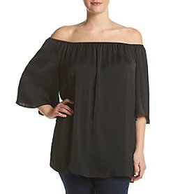 Ruff Hewn GREY Plus Size Off Shoulder Blouse