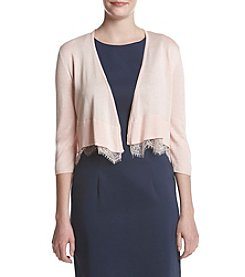 Tommy Hilfiger® Lace Hem Cardigan Shrug