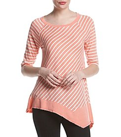 Calvin Klein Performance Striped Tunic Knit Top