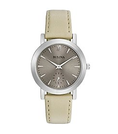 Bulova® Women's Classic Colletion Leather Strap Watch