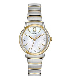 Bulova® Women's Diamond Two-Tone Watch