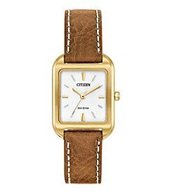 Citizen® Women's Eco-Drive Goldtone Chandler Strap Watch