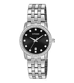 Citizen® Women's Stainless Steel Crystal-Accent Bracelet Watch