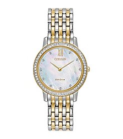Citizen® Women's Eco-Drive Two Tone Silhouette Crystal Watch