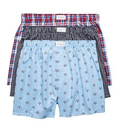Tommy Hilfiger Men's 3-Pack Woven Boxers