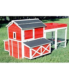 Zoovilla Barn Chicken Coop with Roof Planter