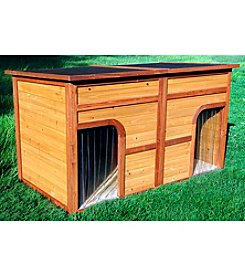 Zoovilla Flat Top Duplex Dog House
