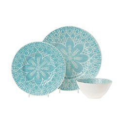 VIVA by Vietri Lace Aqua Dinnerware Collection