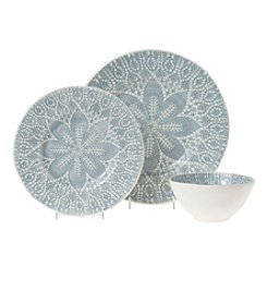 VIVA by Vietri Lace Gray Dinnerware Collection