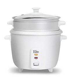 Elite Gourmet Rice Cooker with Steam Tray