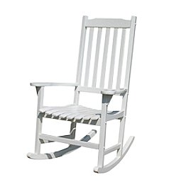 Northbeam Traditional White Rocking Chair