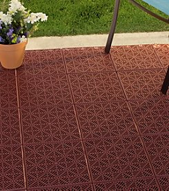 Pure Garden Interlocking Patio, Deck or Garage Floor Tiles