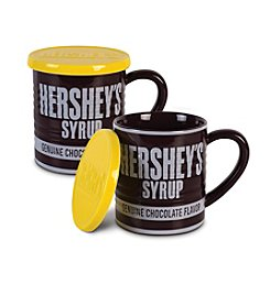 Fitz and Floyd® HERSHEY'S® Set of 2 Syrup Can Mugs with Lid