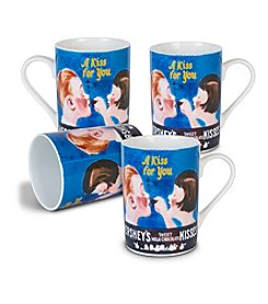 Fitz and Floyd® HERSHEY'S® Set of 4 Kissing Kids Mugs